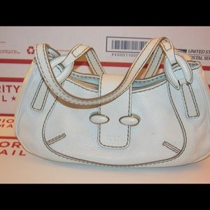 Tod's white Leather Satchel T112